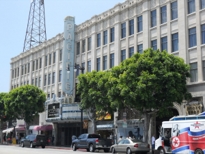 a view of hollywood pacific theatre