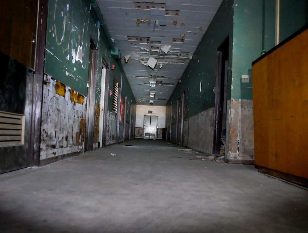 a run-down hallway