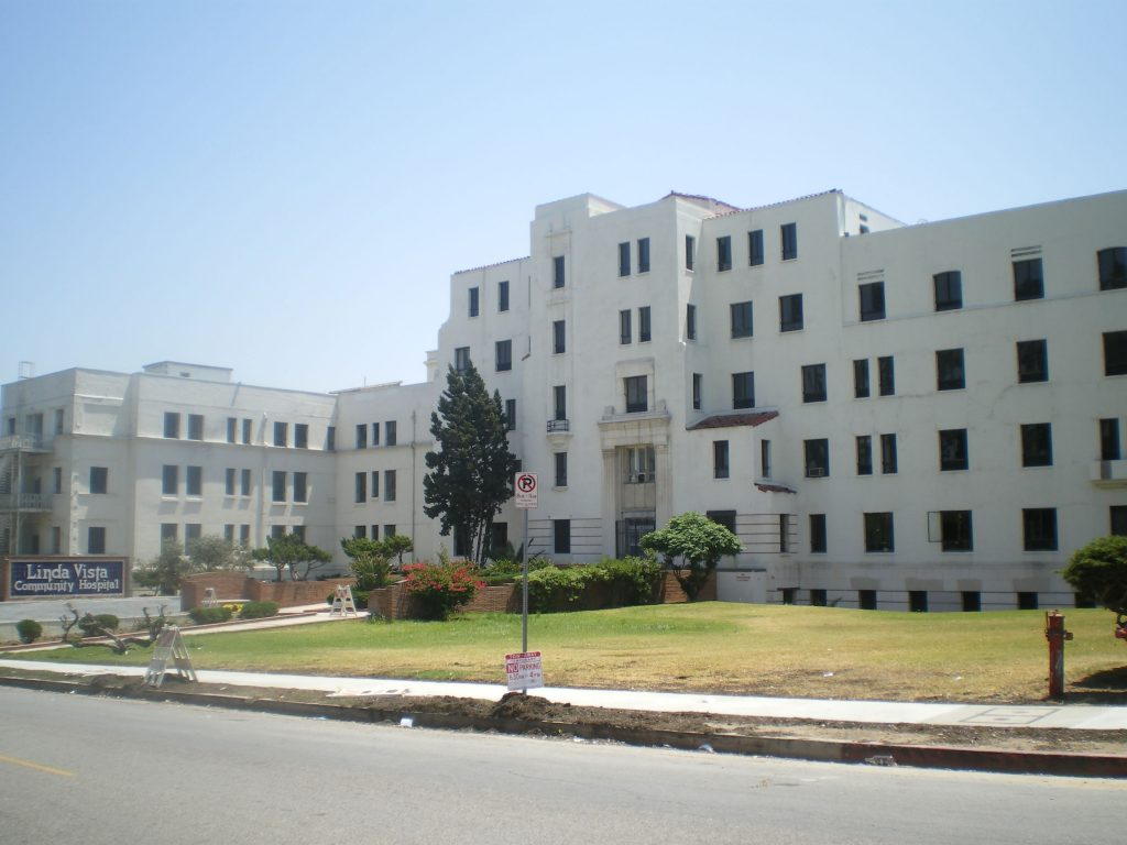 a view of linda vista hospital from across the street