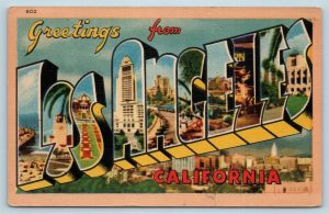 Vintage Los Angeles postcard