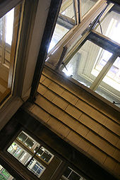 photo fo odd window inside winchester house