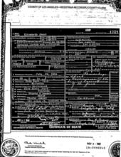 Elizabeth Short's Death Certificate