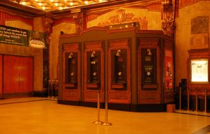 photo shows the box office at the pantages theatre