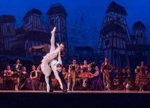 photo shows a ballet dancer on stage